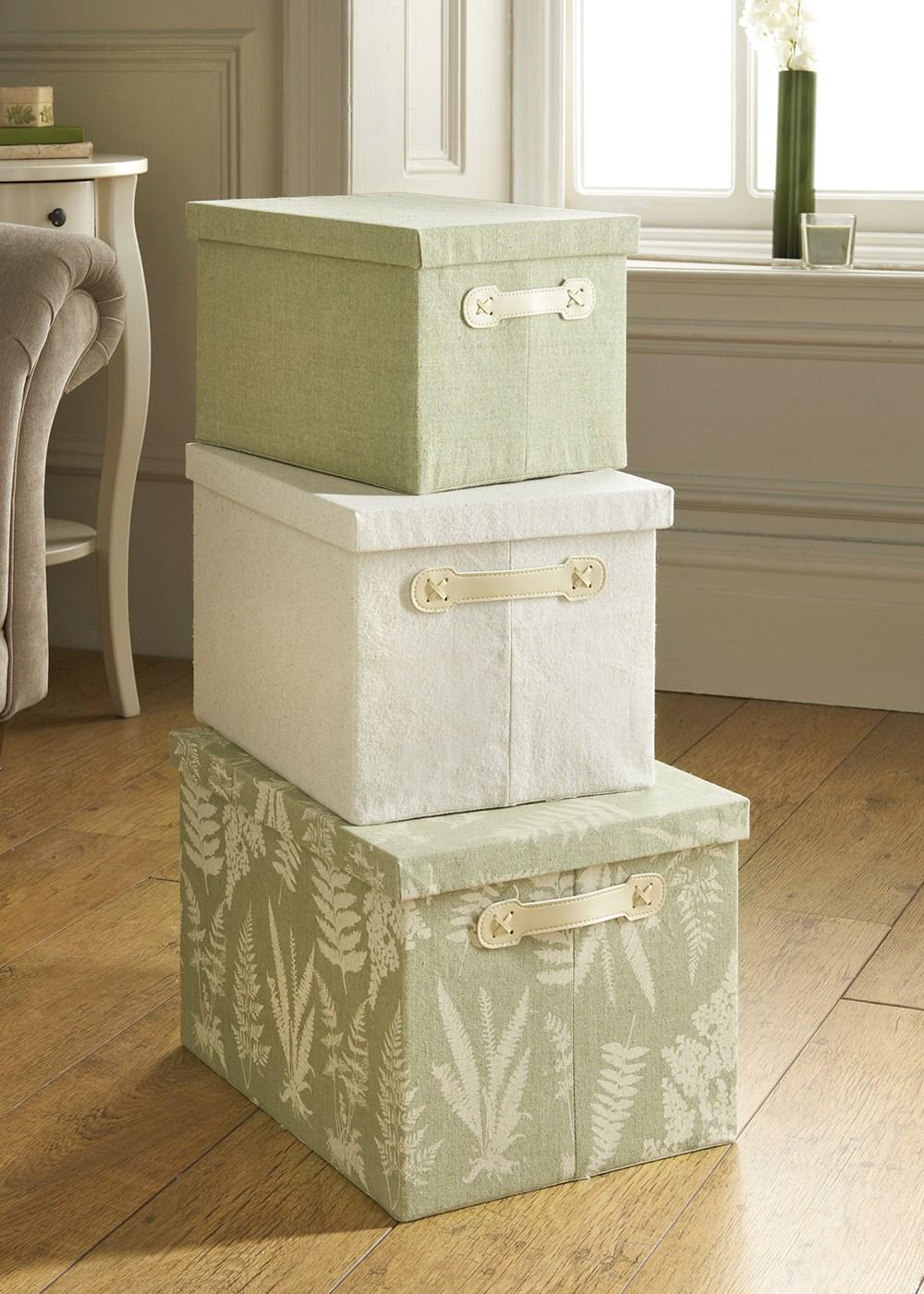 set-of-3-printed-storage-boxes-assorted-sizes- & boxes | KateKiwii